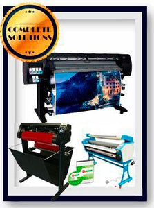 "COMPLETE SOLUTION - Plotter HP L26500 61"" (Latex 260) - Recertified - (90 Days Warranty) +  55"" Full-Auto Low Temp. Cold Laminator, With Heat Assisted - New + 53"" Vinyl Cutter with Stand and Cutter Software - New - Includes Flexi RIP Software"