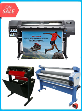 HP Latex 115 - NEW + 55IN FULL-AUTO WIDE FORMAT COLD LAMINATOR, WITH HEAT ASSISTED + 53