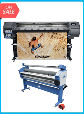 HP Latex 335 Printer (V7L47A) - New + 55IN FULL-AUTO WIDE FORMAT COLD LAMINATOR, WITH HEAT ASSISTED