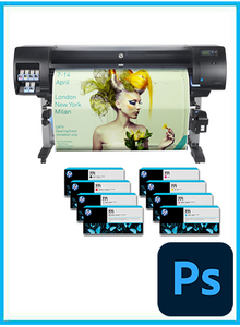"HP DesignJet Z6600 60"" Photo Production Printer + Starter Supplies + Photoshop"