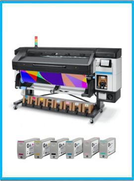HP Latex 800W Printer + Ink Supplies
