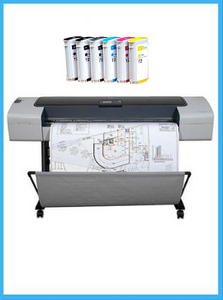 HP Designjet T1100 44-inch Printer - Recertified - (90 days Warranty) + Starter Supplies