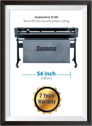 SummaCut D140 54 in (137 cm) vinyl and contour cutting - New + 2 YEARS WARRANTY