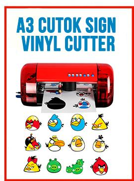 A3 CUTOK Sign Vinyl Cutter & Plotter Machine W/Ethylene Cutting Counter Function
