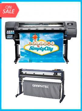 HP Latex 110 Printer - Recertified (90 Days Warranty) + GRAPHTEC FC9000-140 54