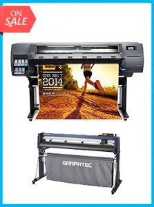 "BUNDLE - Plotter HP Latex 310 54""  - Recertified - (90 Days Warranty) + GRAPHTEC CUTTER FC9000-140 54"" (137.2 cm) Wide Cutter - New"