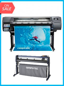 "BUNDLE - Plotter HP Latex 315 54"" New + GRAPHTEC CUTTER FC9000-140 54"" (137.2 cm) Wide Cutter - New"