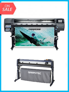 "BUNDLE - Plotter HP Designjet 365 Latex 64in Printer New + GRAPHTEC CUTTER FC9000-160 64"" (162.6 cm) Wide Cutter"