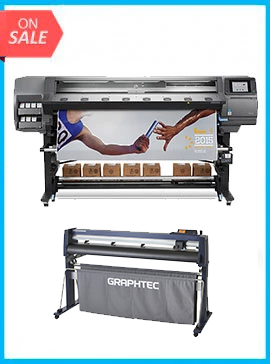 BUNDLE - Plotter HP DESIGNJET LATEX 370 64IN PRINTER - RECERTIFIED (90 DAYS WARRANTY) + GRAPHTEC CUTTER FC9000-160 64