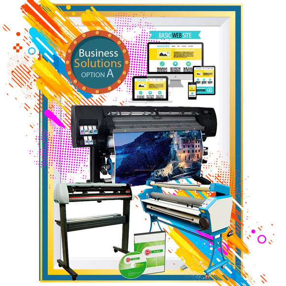 BUSINESS SOLUTION OPTION A - HP L26500 - LAMINATOR - CUTTER - SOFTWARE - BASIC WEBSITE