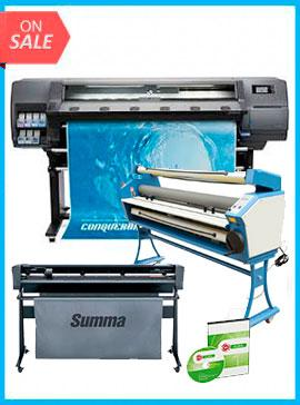 COMPLETE SOLUTION - Plotter HP Latex 315 New + SummaCut D140 54 in (137 cm) vinyl and contour cutting - New + 55