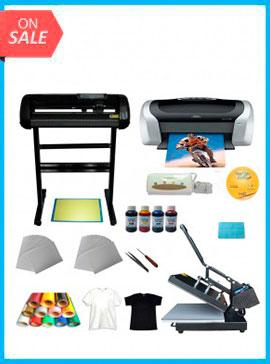 Heat press,Cutter plotter ,Printer,Ink ,Paper T-shirt Transfer Start-up Kit