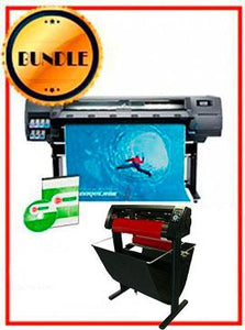 "BUNDLE - HP Latex 315 54"" Printer - NEW - Include Flexi (Rip Software) + 53"" 3 ARMS Contour Cut Vinyl Cutter w/ VinylMaster Cut Software - New - New"