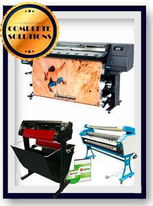 "COMPLETE SOLUTION - Plotter HP Latex 335 - NEW + 55"" Full-Auto Low Temp. Cold Laminator, With Heat Assisted - New + 53"" 3 ARMS Contour Cut Vinyl Cutter w/ VinylMaster Cut Software - New -  Includes Flexi RIP Software"