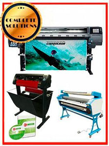 "COMPLETE SOLUTION - Plotter HP Latex 365 - NEW + 55"" Full-Auto Low Temp. Cold Laminator, With Heat Assisted - New + 53"" 3 ARMS Contour Cut Vinyl Cutter w/ VinylMaster Cut Software - New -  Includes Flexi RIP Software"