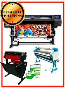 "COMPLETE SOLUTION - Plotter HP Latex 560 - NEW + 55"" Full-Auto Low Temp. Cold Laminator, With Heat Assisted - New + 53"" 3 ARMS Contour Cut Vinyl Cutter w/ VinylMaster Cut Software - New - Includes Flexi RIP Software"