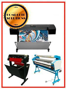 "COMPLETE SOLUTION - Plotter HP Designjet Z2100 24"" - Recertified - (90 Days Warranty) + 55"" Full-Auto Low Temp. Cold Laminator, With Heat Assisted - New + 53"" 3 ARMS Contour Cut Vinyl Cutter w/ VinylMaster Cut Software - New"