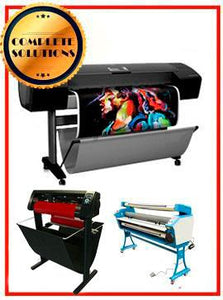 "COMPLETE SOLUTION - Plotter HP Z3100 44"" - Recertified - (90 Days Warranty) + 55"" Full-Auto Low Temp. Cold Laminator, With Heat Assisted - New + 53"" 3 ARMS Contour Cut Vinyl Cutter w/ VinylMaster Cut Software - New - Include 2 Free Rolls Of Paper"