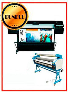 "BUNDLE - Plotter HP Z5200PS 44"" Recertified (90 Days Warranty) + 55"" Full-Auto Low Temp. Cold Laminator, With Heat Assisted"