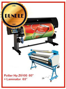 "BUNDLE - Plotter HP Z6100PS 60¨ Recertified (90 Days Warranty) + 55"" Full-Auto Low Temp. Cold Laminator, With Heat Assisted"