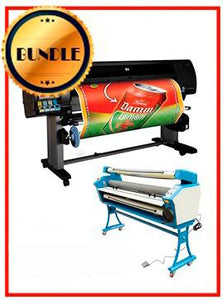 "BUNDLE - Plotter HP Z6100 60¨ Recertified (90 Days Warranty) + 55"" Full-Auto Low Temp. Cold Laminator, With Heat Assisted"