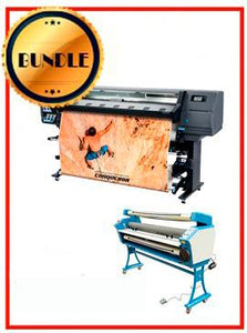 "BUNDLE - Plotter HP Latex 335 - NEW + 55"" Full-Auto Low Temp. Cold Laminator, With Heat Assisted"