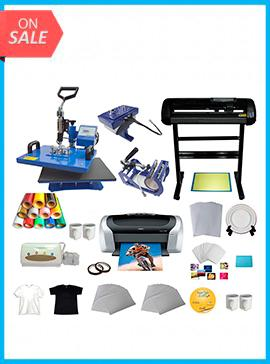 Vinyl Cutter 5in1 Heat Press Printer Vinyl T-shirt Transfer Start-up Kit