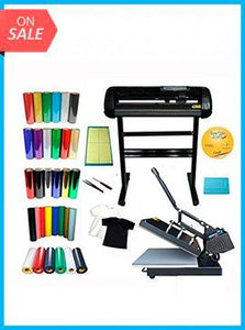 Heat press, Vinyl Cutter ,Software Vinyl DIY T-shirt by Vinyl Start-up Kit