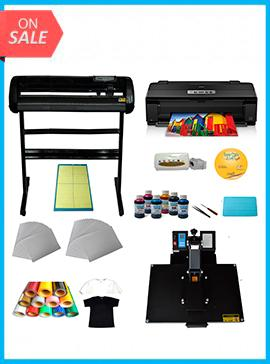 Heat press, Vinyl Cutter ,Printer,Ink ,Paper T-shirt Transfer Start-up Kit