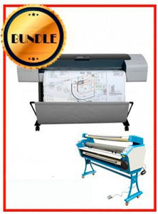 "BUNDLE - Plotter HP T1100 44¨ Recertified (90 Days Warranty) + 55"" Full-Auto Low Temp. Cold Laminator, With Heat Assisted"