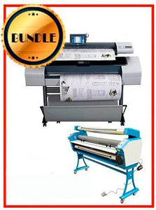 "BUNDLE - Plotter HP T1120SD 44¨ Recertified (90 Days Warranty) + 55"" Full-Auto Low Temp. Cold Laminator, With Heat Assisted"