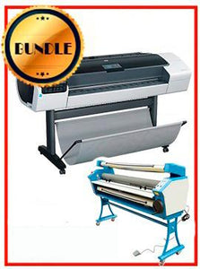 "BUNDLE - Plotter HP T1200PS 44¨ Recertified (90 Days Warranty) +55"" Full-Auto Low Temp. Cold Laminator, With Heat Assisted"