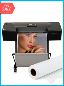 "HP Designjet Z2100 24"" - Q6675A - Recertified - (90 Days Warranty) + Premium Polyester Canvas Roll Matte print HP 24"" x 60' inkjet"