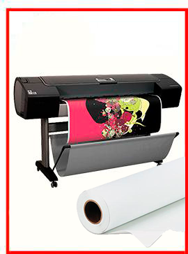 HP Designjet Z3200 44-in Photo Printer  - Recertified - (90 Days Warranty) + Premium Polyester Canvas Roll Matte print HP  36