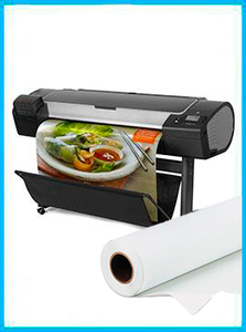 "HP DesignJet Z5400 44-in PostScript Printer - Recertified (90 Days Warranty) + Premium Polyester Canvas Roll Matte print HP  36"" x 60' inkjet"