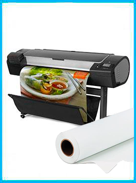 HP DesignJet Z5400 44-in PostScript Printer - Recertified (90 Days Warranty) + Premium Polyester Canvas Roll Matte print HP  36