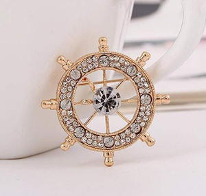 Golden Wheel Brooch