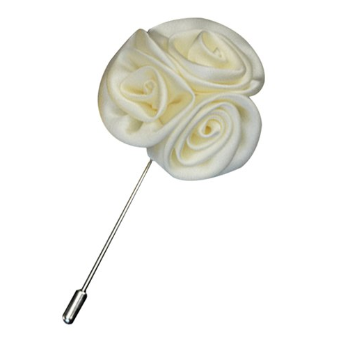 White Daisy Flower Lapel Pin