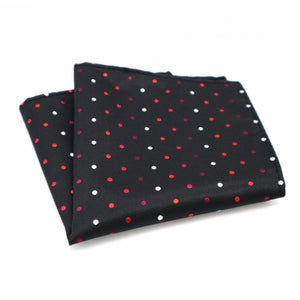 Black Polka Dots Silk Pocket Square In Pakistan