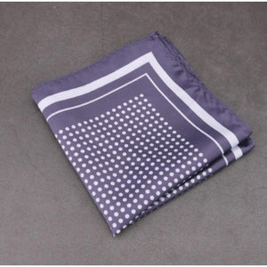 Grey Polka Dots Pocket Square (PS_504)