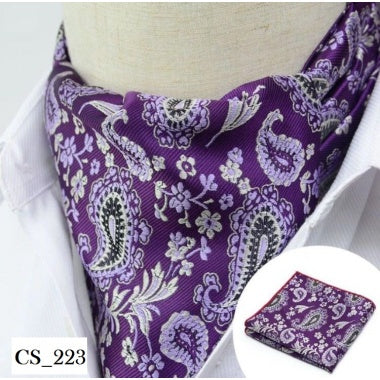 Purple Paisley Cravat Tie Set For Men Neck Scarf In Pakistan