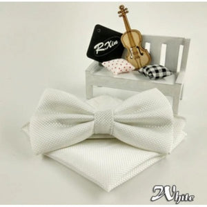White Bow Tie Set