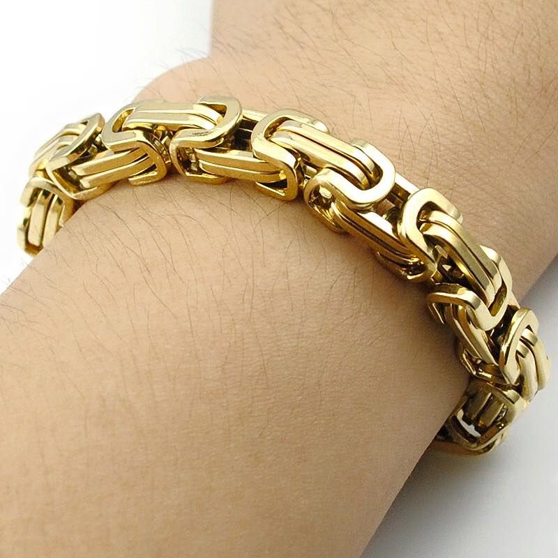 Gold Link Chain Bracelet For Men