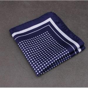 Blue Polka Dots Pocket Square Pakistan
