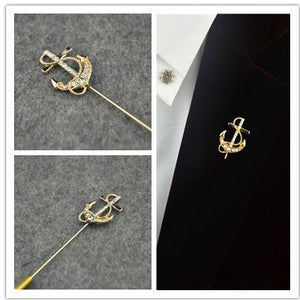 anchor navy wedding dress brooch lapel pin in Pakistan
