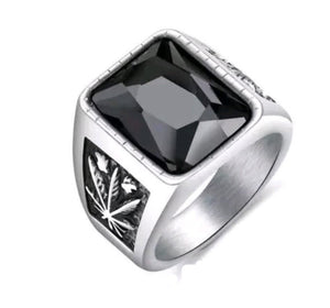Black Aqeeq Silver Turkish Ring Men Pakistan