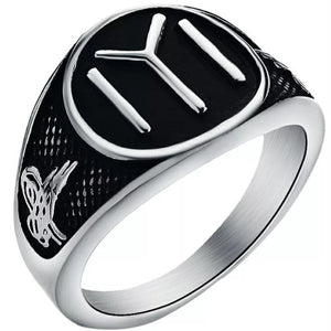 Ertugrul Kayi Tribe Ring (Black)