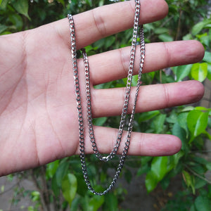 3mm silver neck chain for men online in pakistan