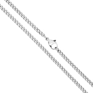 3mm pure silver neck chain for men online in pakistan