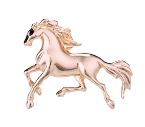 Gold Horse Brooch Men Pakistan